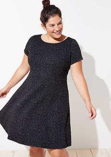 LOFT Plus Leopard Jacquard Flare Dress