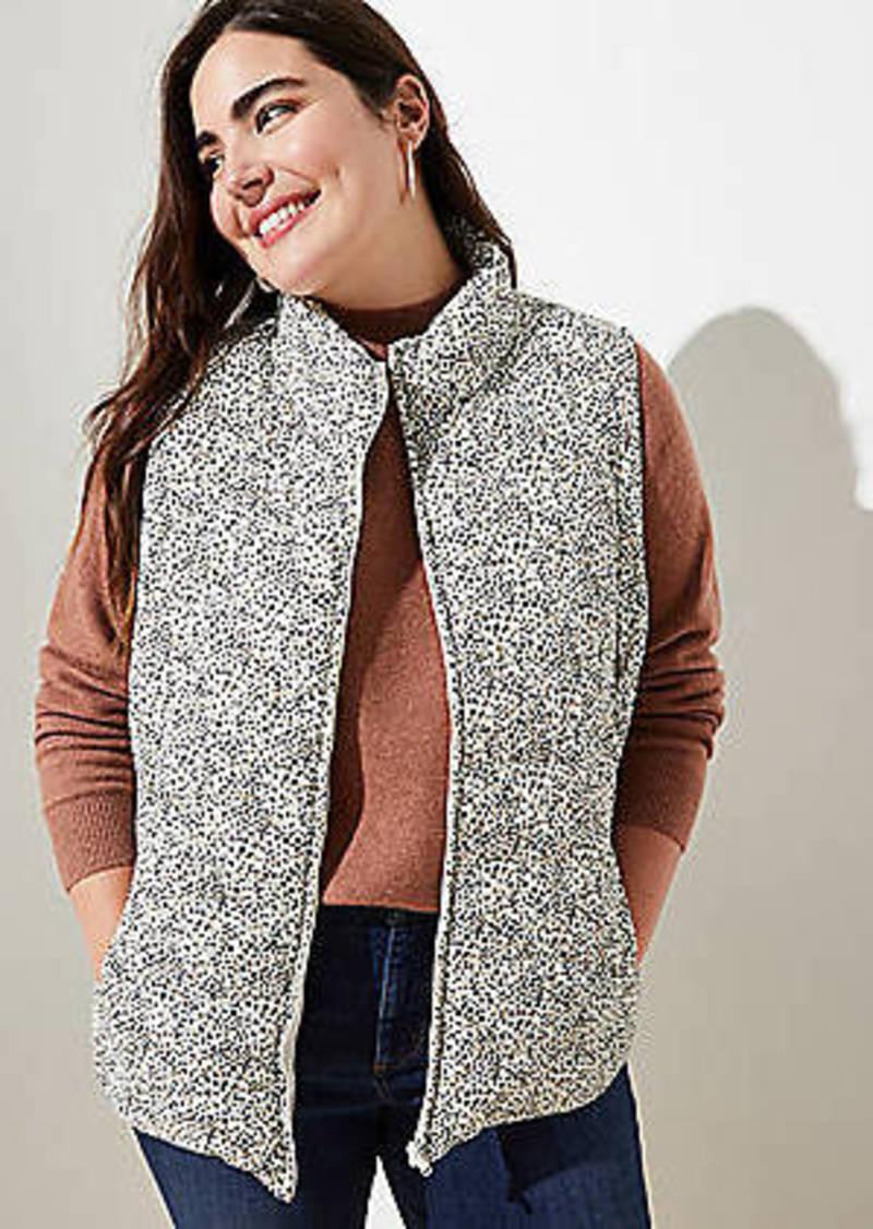 LOFT Plus Leopard Print Puffer Vest