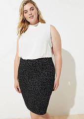 LOFT Plus Leopard Print Pull On Pencil Skirt