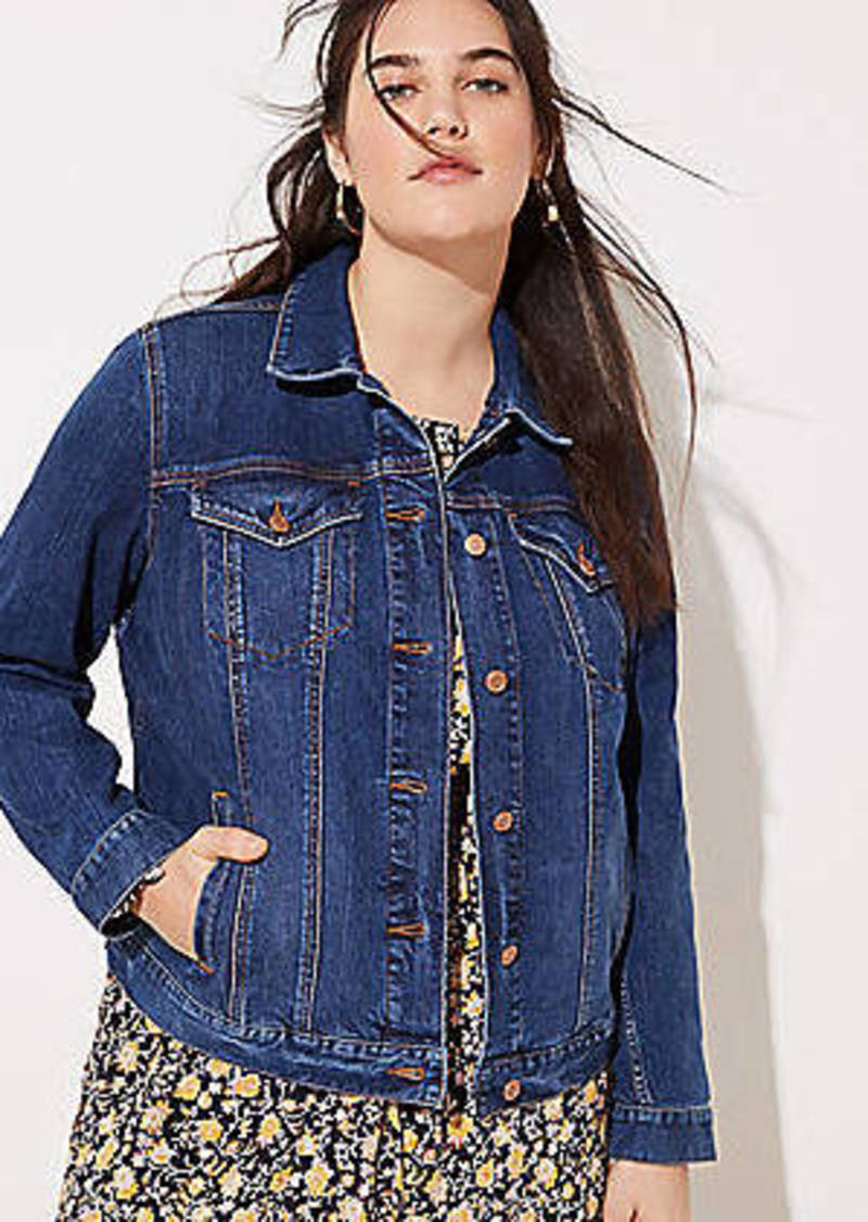 LOFT Plus Modern Denim Jacket