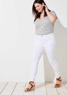 LOFT Plus Modern Skinny Jeans in White