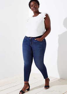 LOFT Plus Modern Slim Pocket Skinny Jeans in Staple Dark Indigo Wash