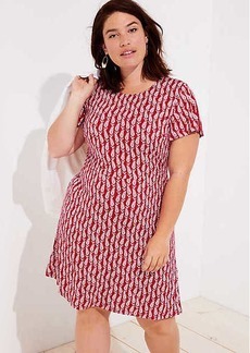 LOFT Plus Paisley Flutter Flare Dress