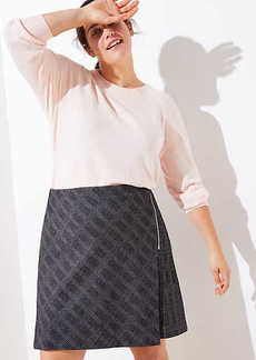 LOFT Plus Plaid Zip Wrap Skirt