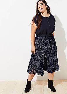 LOFT Plus Pleated Henley Dress