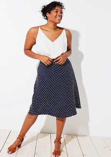 LOFT Plus Polka Dot Midi Skirt