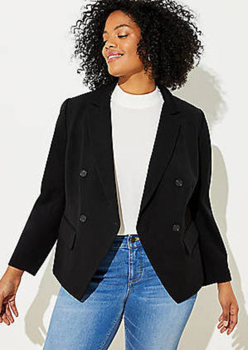 LOFT Plus Ponte Double Breasted Blazer