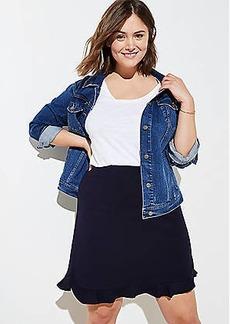 LOFT Plus Ponte Flounce Pull On Skirt
