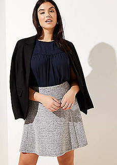 LOFT Plus Pull On Flippy Skirt