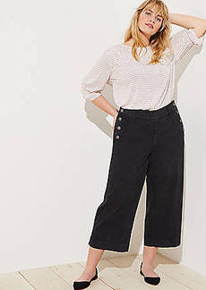 LOFT Plus Sailor Wide Leg Crop Pants
