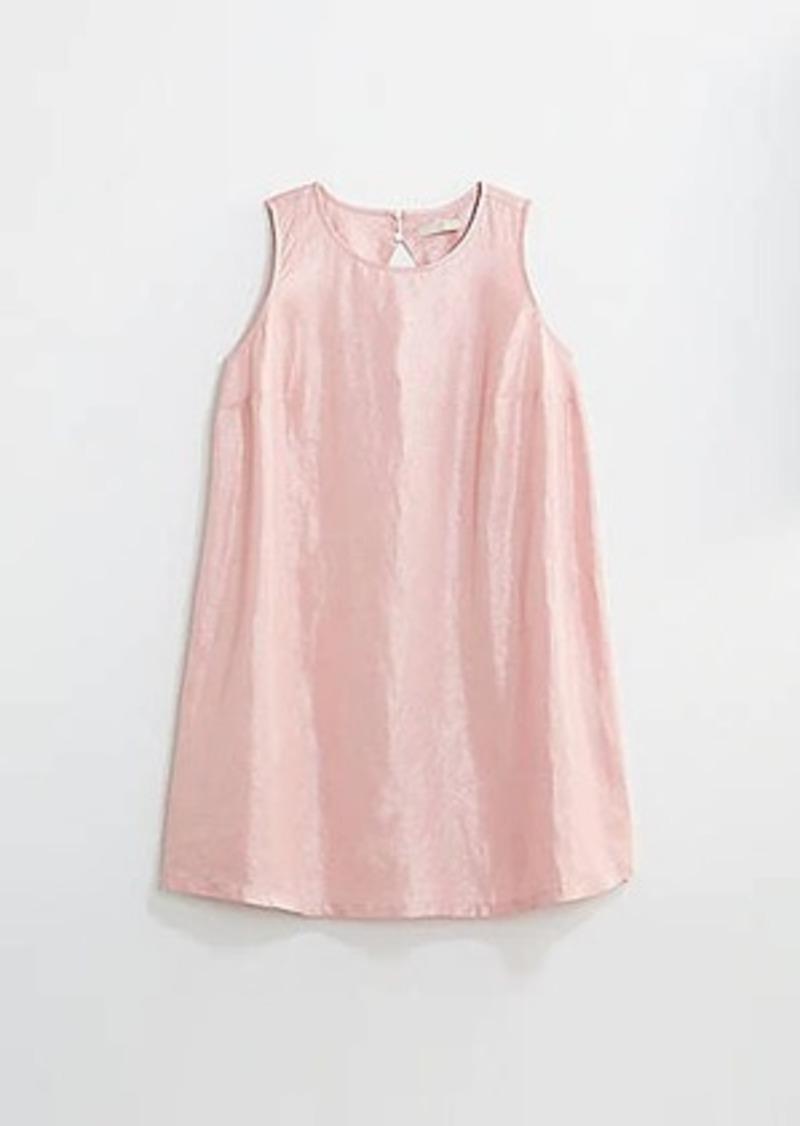 LOFT Plus Shimmer Cutout Back Shift Dress