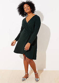 LOFT Plus Shirred Wrap Dress