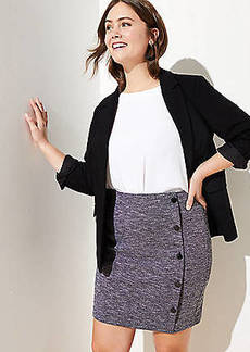 LOFT Plus Side Button Pull On Pencil Skirt