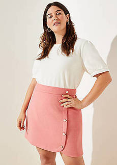 LOFT Plus Side Button Shift Skirt