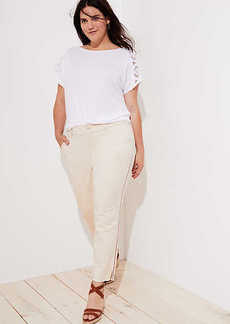 LOFT Plus Side Stripe Girlfriend Chinos