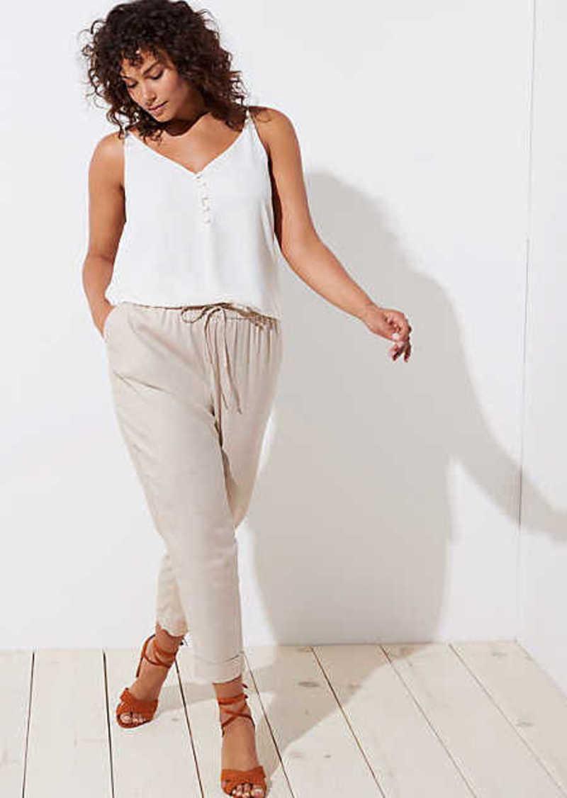 fab0fd415532 LOFT LOFT Plus Slim Drawstring Pants