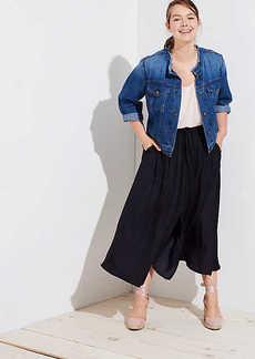 LOFT Plus Slit Drawstring Pocket Maxi Skirt