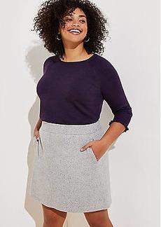 LOFT Plus Speckled Pocket Shift Skirt