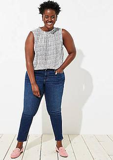 LOFT Plus Straight Leg Jeans in Indigo