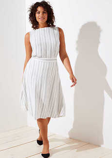 LOFT Plus Striped Midi Skirt