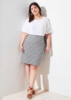 LOFT Plus Striped Pull On Pencil Skirt