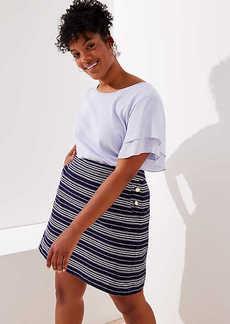 LOFT Plus Striped Sailor Pocket Shift Skirt