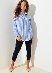 LOFT Plus Striped Tunic Shirt
