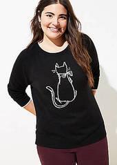LOFT Plus Luxe Knit Cat Sweater