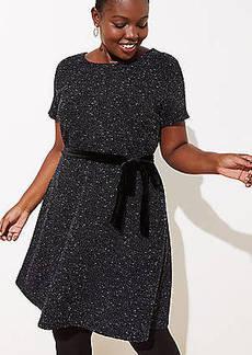 LOFT Plus Textured Velvet Belted Dress