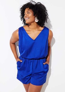 LOFT Plus Tie Back Romper