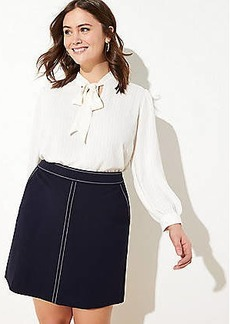 LOFT Plus Topstitched Pocket Pull On Skirt
