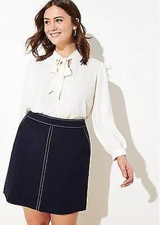 LOFT Plus Topstitched Pocket Pull On Skirt