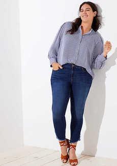 LOFT Plus Tulip Hem Skinny Jeans in Classic Dark Indigo Wash
