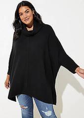 LOFT Plus Turtleneck Poncho Sweater
