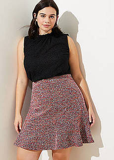 LOFT Plus Tweed Flippy Skirt