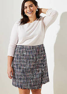 LOFT Plus Tweed Wrap Skirt