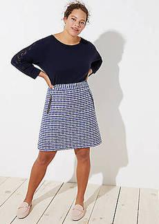 LOFT Plus Tweed Zip Pocket Shift Skirt