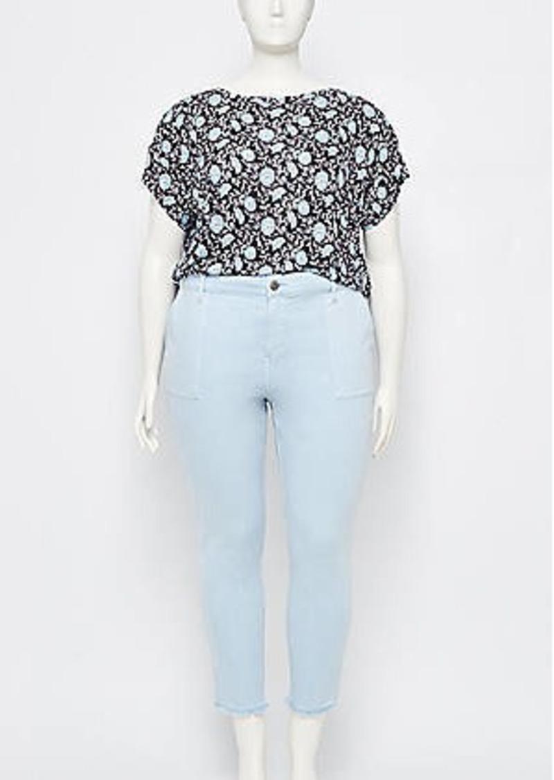 LOFT Plus Utility Pocket Skinny Crop Jeans in Heavenly Blue