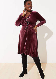 LOFT Plus Velvet Knot Wrap Dress