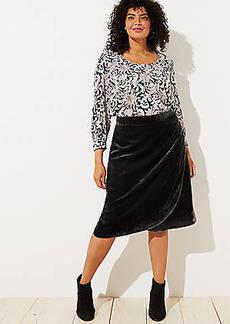 LOFT Plus Velvet Wrap Skirt