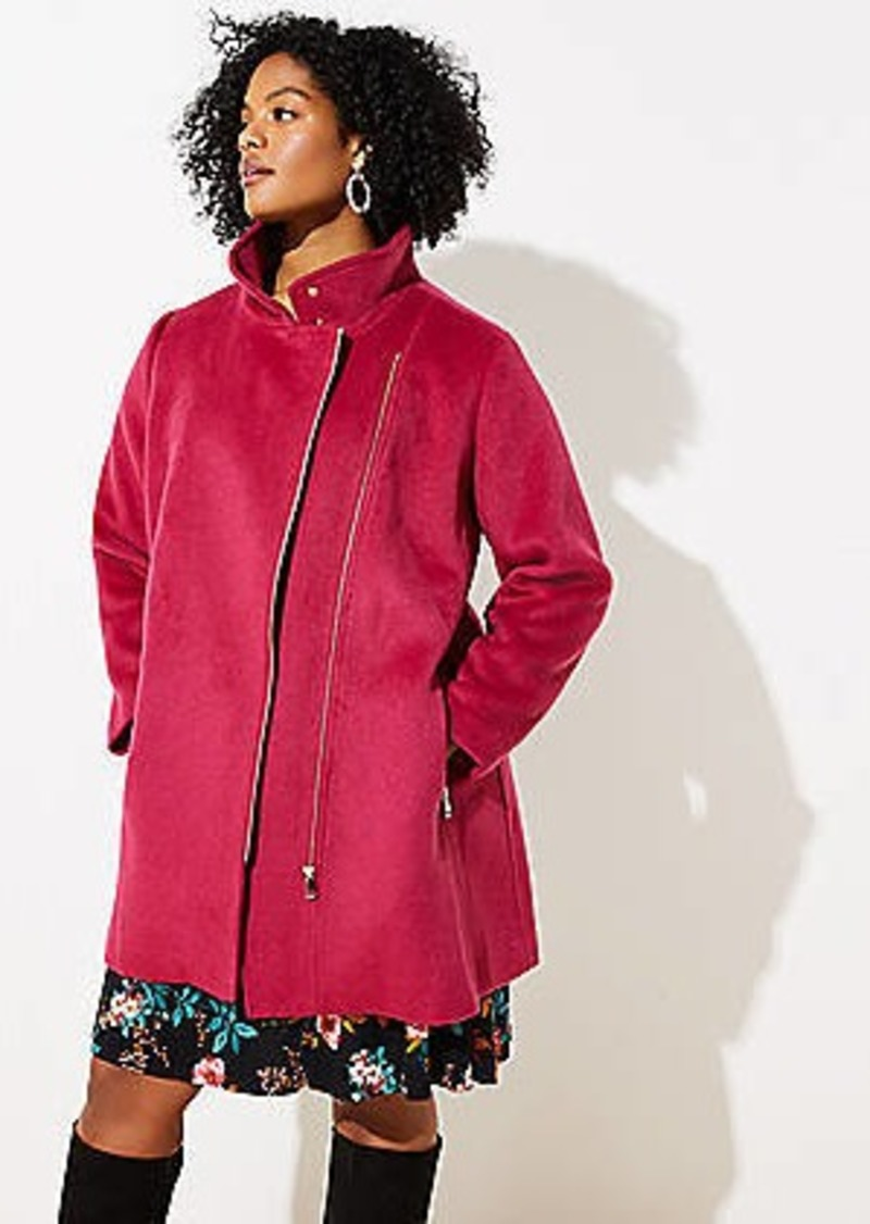 LOFT Plus Wooly Moto Coat