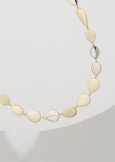 LOFT Long Mixed Metallic Drop Necklace