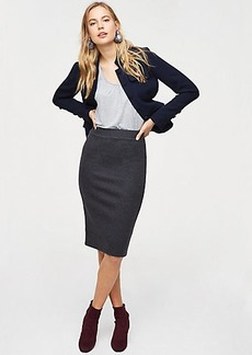 Long Pull On Pencil Skirt