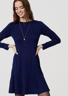 LOFT Long Sleeve Flare Dress