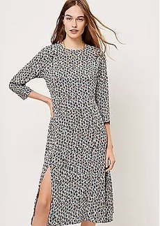LOFT Long Sleeve Midi Dress