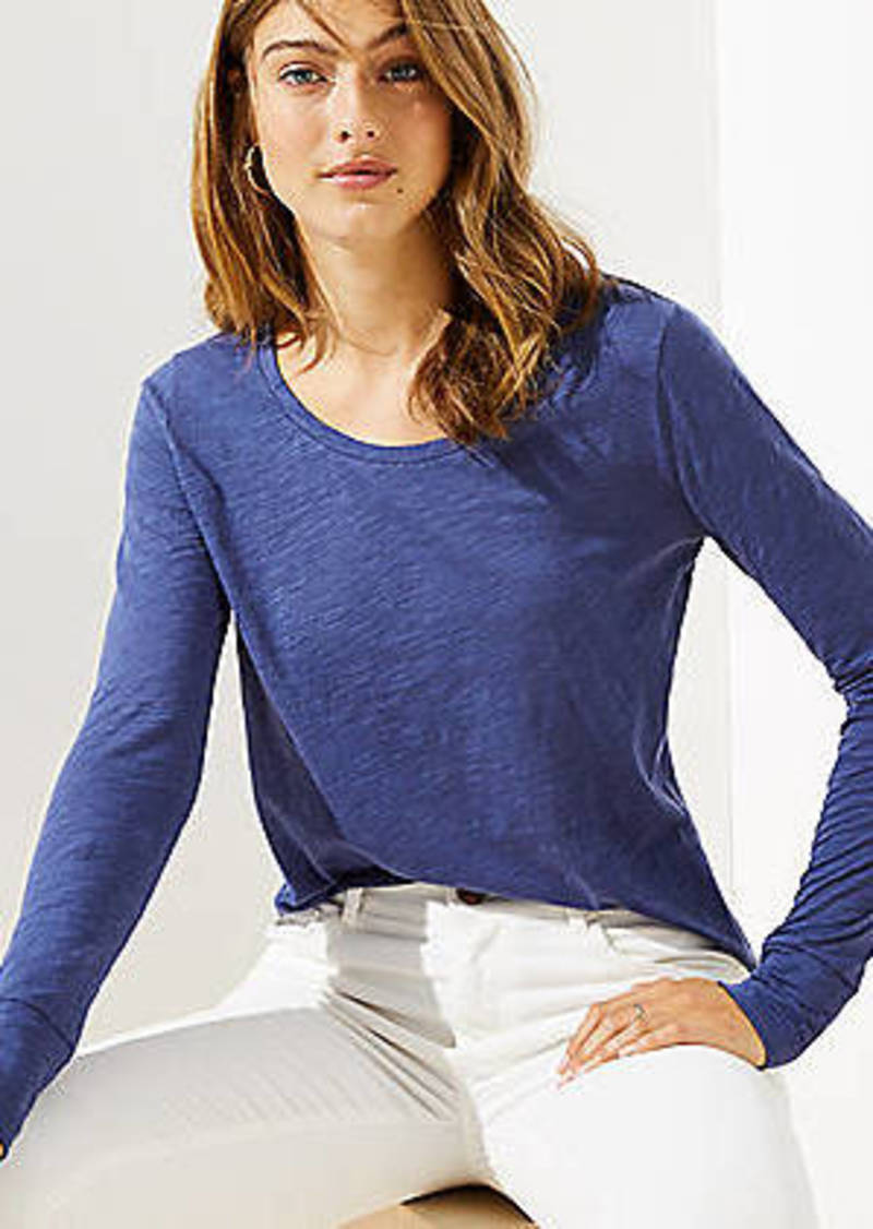 LOFT Long Sleeve Shirttail Tee