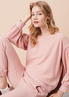 Lou & Grey Abbreviated Blouson Sweatshirt