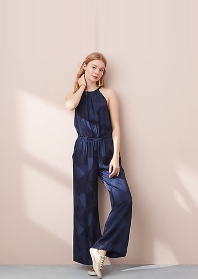31c6451d86 SALE! LOFT Lou   Grey Abstract Fluid Jumpsuit