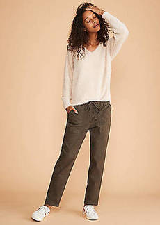 LOFT Lou & Grey Brushed Sateen Utility Pants