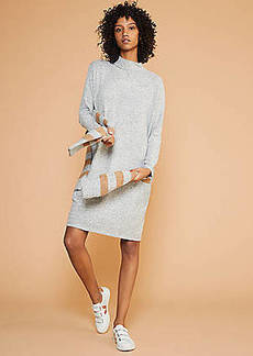 LOFT Lou & Grey Brushmarl Mock Neck Cocoon Dress